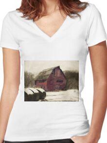 Windows of Nebraska Women's Fitted V-Neck T-Shirt