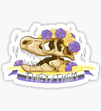 Dinosaur Pride - they/them pronouns Sticker