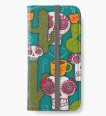 Skulls, Cacti and Atomic Coffee iPhone Wallet/Case/Skin