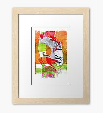 collage • drawing • colorfulart • fish Framed Print