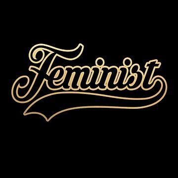 Team Feminist (gold swoosh) by starkle