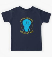 mr. meeseeks, rick and morty, rick, morty, cartoon. Kids Clothes
