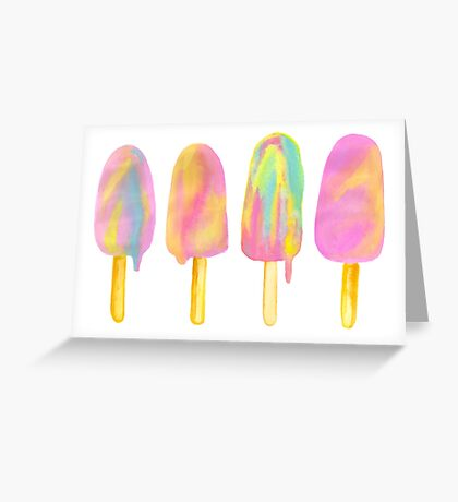 Rainbow Paddlepop - By Merrin Dorothy Greeting Card