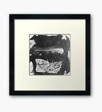Ink Brush Smudge Framed Print