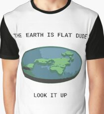 Earth is Flat Graphic T-Shirt