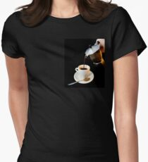 Fresh coffee for one Women's Fitted T-Shirt