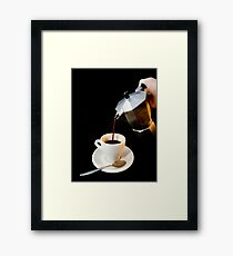 Fresh coffee for one Framed Print