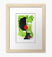art • collage • drawing • racoon • animal Framed Print