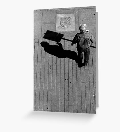 Does it hurt if your shadow bumps into something? Greeting Card