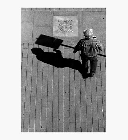 Does it hurt if your shadow bumps into something? Photographic Print