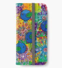 Blue Birds of happiness iPhone Wallet