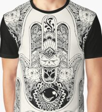 Hamsa Hand Persian Cat Graphic T-Shirt