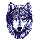 Timber Wolf - Blau von sandyeates
