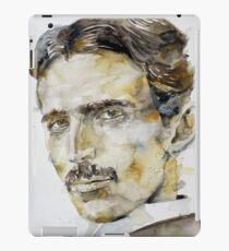 NIKOLA TESLA - watercolor portrait.6 iPad Case/Skin