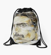 NIKOLA TESLA - watercolor portrait.6 Drawstring Bag