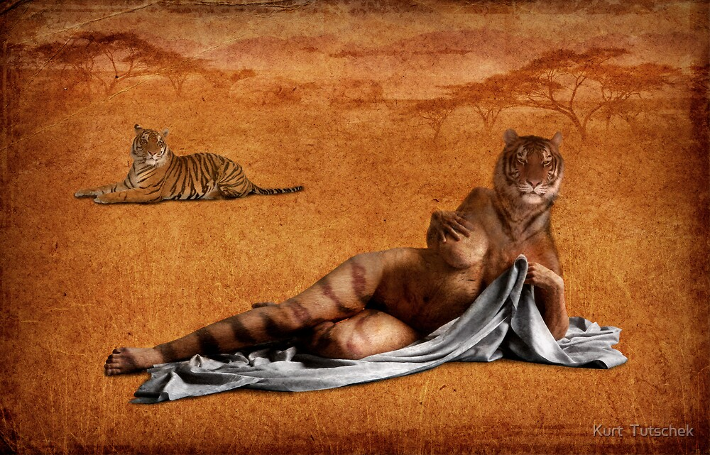 The woman who roared with the tigers one day by Kurt  Tutschek