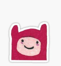 Finn with a red hat  Sticker