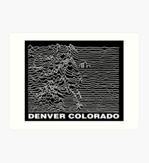 Denver Colorado, Unknown Ranges Art Print
