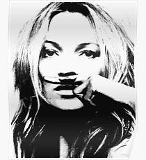Kate Moss illustration, Woman, Girl, Lips print, Fashion art, Fashion print, Scandinavian art, Modern art, Wall art, Print, Minimalistic, Modern Poster