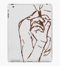 brown ink cigarette sketch iPad Case/Skin