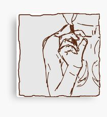 brown ink cigarette sketch Canvas Print