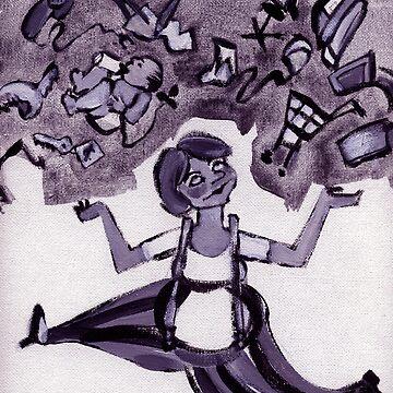 juggle woman by shallay
