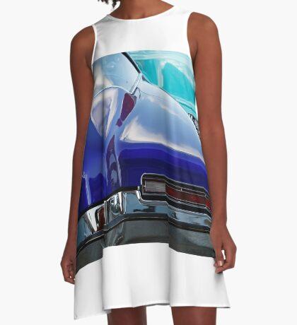 Blue Boattail Buick A-Line Dress