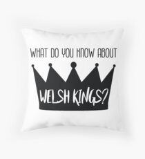 Welsh Kings Throw Pillow