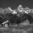 Dilapidated Barn and The Grand Tetons WY by halnormank