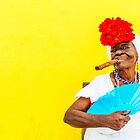 Cuban Woman In Havana With Cigar by Paul Thompson Photography
