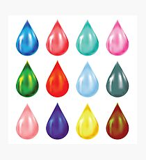 set of drops Photographic Print