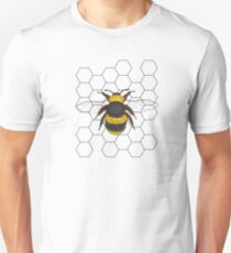 Bumble Bee with Honey Comb Unisex T-Shirt