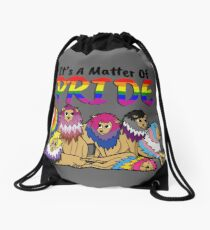 The Pride Pride, With Text Drawstring Bag