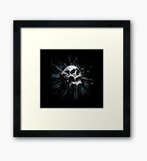 Time travel-skull Framed Print