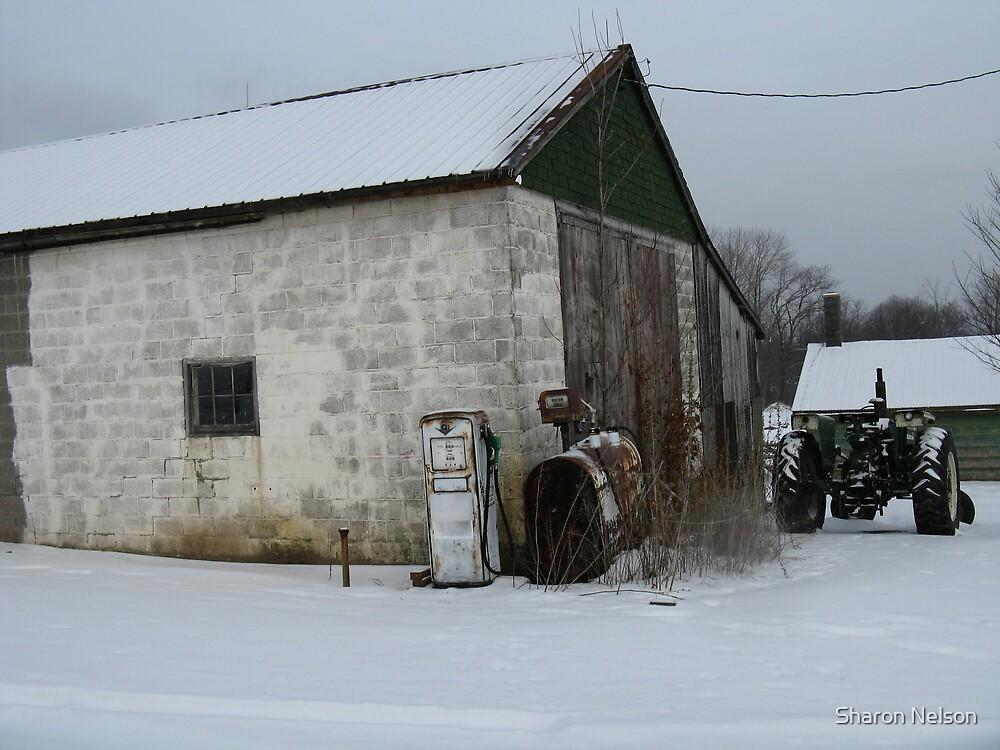 Farm Gas Pump #3 by Sharon Nelson