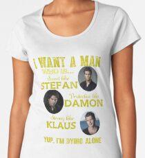 the vampire diaries - i want the man Women's Premium T-Shirt