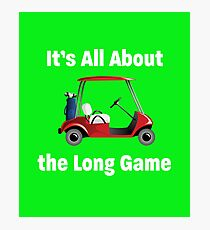 Funny Golf Design Photographic Print