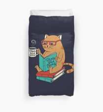 Drink good coffee and read good books Duvet Cover