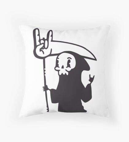 Death Metal Grim Reaper Throw Pillow