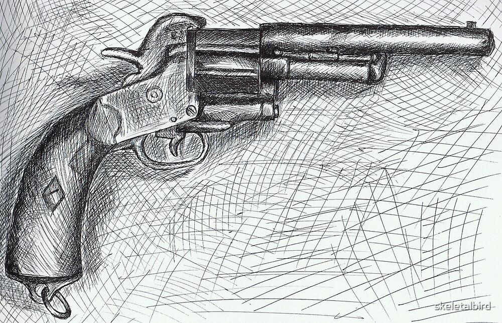 it takes a lot of men to make a gun by skeletalbird