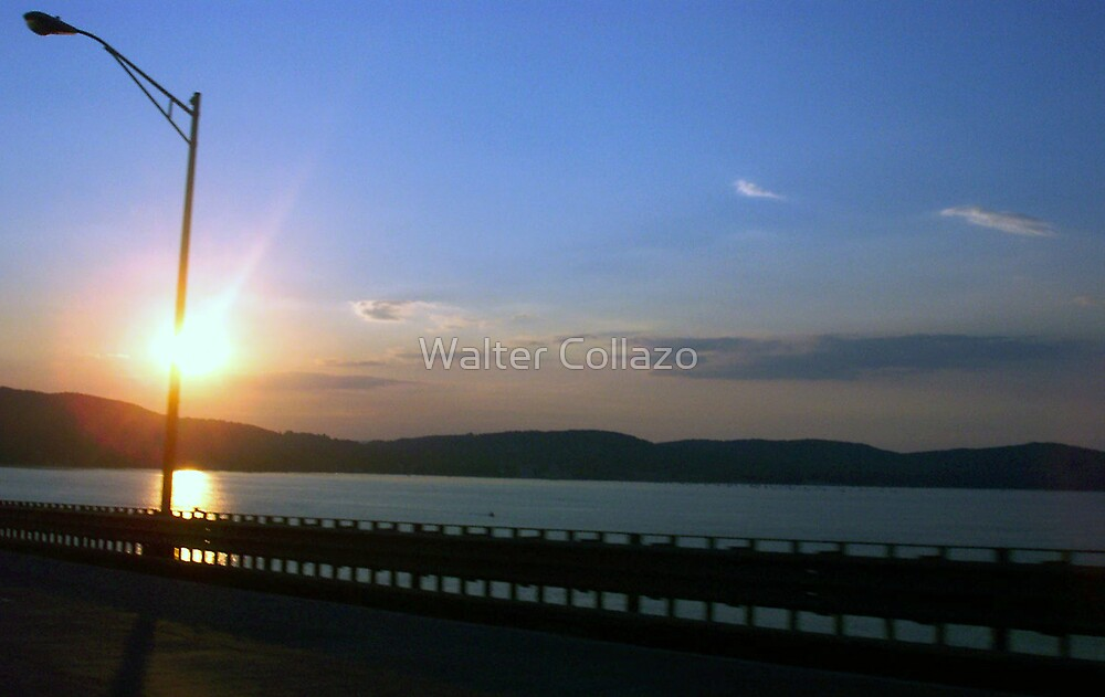 Driving With The Sunset by Walter Collazo