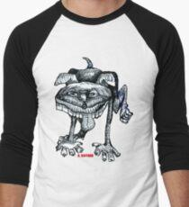Peeing Puppy Men's Baseball ¾ T-Shirt