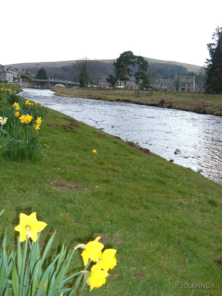 The River Esk, Langholm. by JDLENNOX
