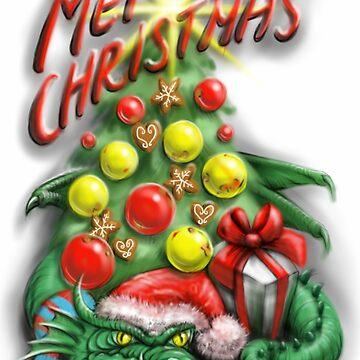 Merry Dragon Christmas by Unicornuss