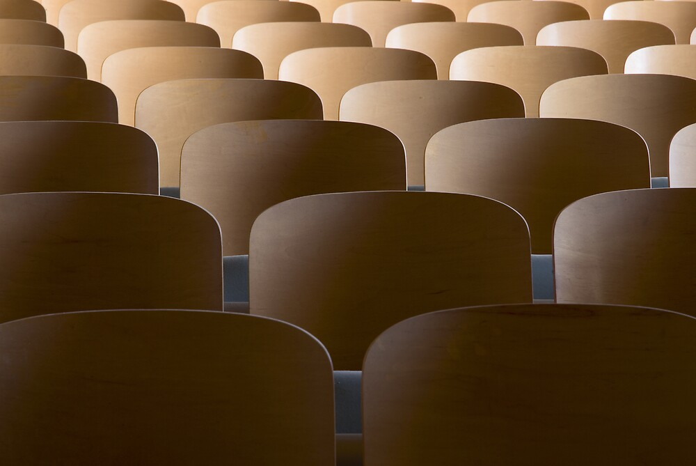 rows of seats by rob dobi