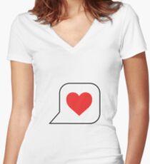 Loves Women's Fitted V-Neck T-Shirt