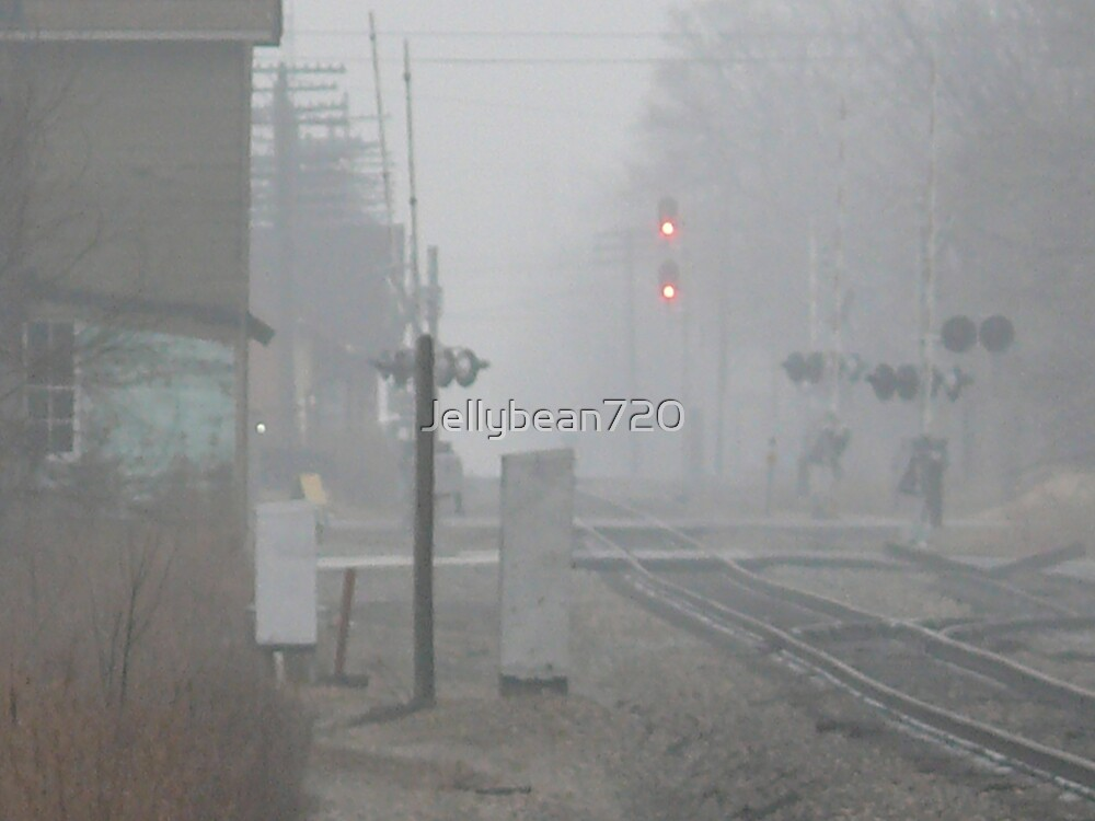 Foggy Afternoon on the tracks by Jellybean720