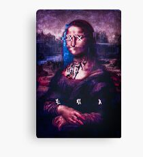 X & Mona Lisa Canvas Print