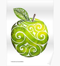 Swirly Apple Poster