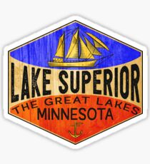 LAKE SUPERIOR MINNESOTA BOATING JET SKI BOAT CAMPING HIKING 2 Sticker
